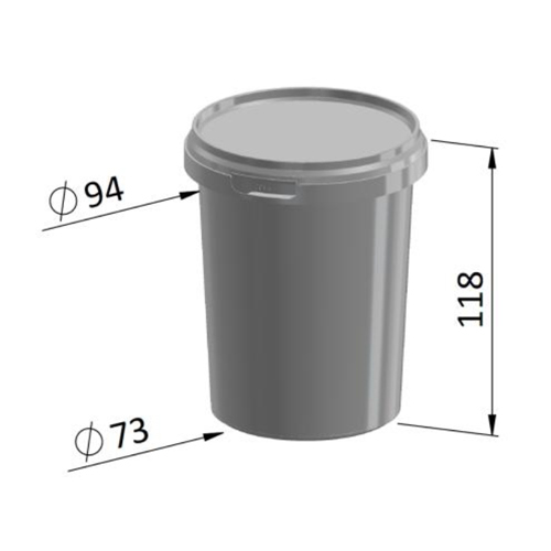 520ml Round Container FR Series